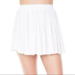 Brandy Melville Flowy White Skirt